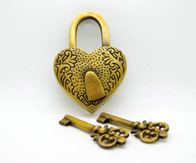 Brass love locks. 5 styles available. The perfect gift by The Foundryman.