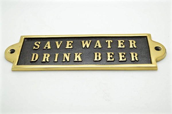 brass sign plaque. Husband gifts, wall decor ideas, man cave gift, Beer whisky gifts, nautical sailing boat,