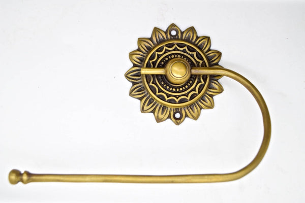 brass toilet roll holders. Flower design , Perfect for Kitchen makeovers and Furniture up cycling projects.