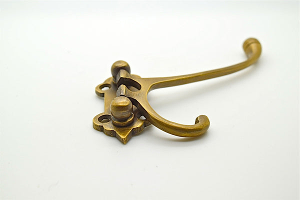 brass wall and door hooks. Folding design , Perfect for bedroom and general makeover projects