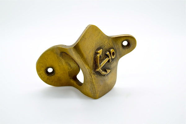 Anchor Wall mounted beer bottle opener. Great man cave gift for beer lovers. Solid cast brass. many styles available .