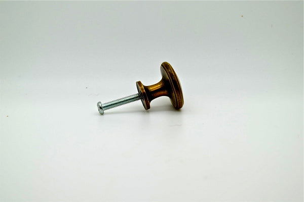 Brass drawer knobs and pulls. 1' x 1' size. Supplied with fitting screw, many styles and sizes available