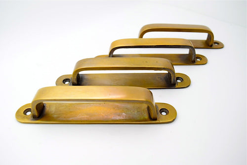Solid Cast Brass Cabinet Handles 4/""