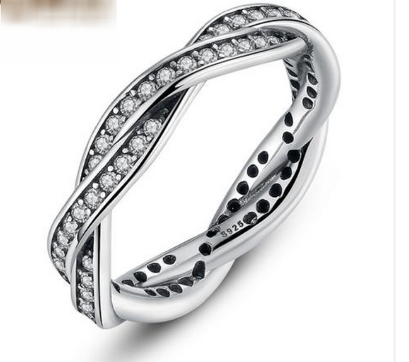 silver and diamond women's wedding band