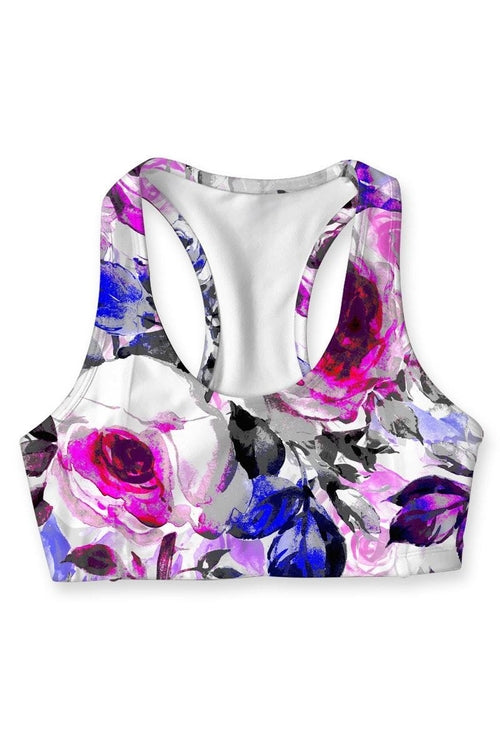 Floral Touch Stella Seamless Racerback Sport Bra -