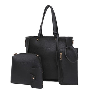 Women Four Set Handbag Shoulder Bags Four Pieces