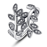 BRAIDED PAVE ,LEAVES My Princess Queen Crown SILVER RING Twist Of Fate Stackable Ring Jewelry for Women Party