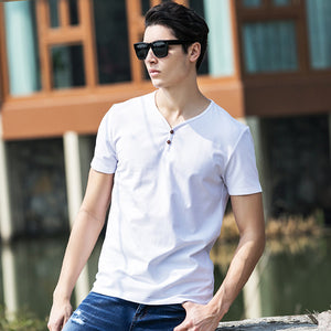 Pioneer Camp Summer Style Brand Clothing Cotton Fitness T Shirt Men Camiseta V-Neck Breathable Men Tshirt Plus Size 3Xl 622028