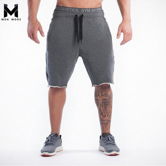 MOK MORS M 2017 New Brand High Quality Men shorts Bodybuilding Fitness Gasp basketballRunning workout jogger shorts golds
