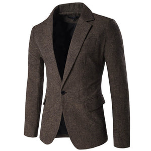 TANGNEST New Arrival Blazer Masculino Slim Fit Casual Single Button Men Blazers Hot Sale Comfortable Men Blazer 3 Colors MWX383
