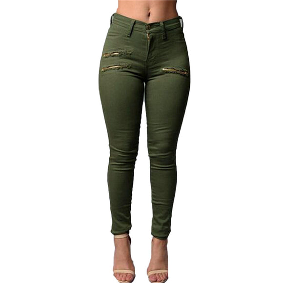 Zanzea New 2017 Spring and Summer  Women's Clothing Zippers Pencil Pants Ladies Cotton High Waist Elastic Trousers