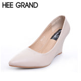 Women's Sexy Wedges Heel Party Shoes Pointed Toe Solid Pumps Shallow Fashion Shoes With High Heels XWD4290