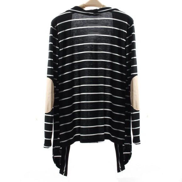 Casual Striped Cardigans Long Sleeve Patchwork