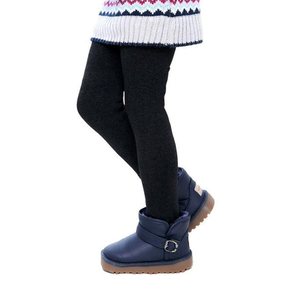 Winter Girls Pants Children Thick Warm Elastic Waist Leggings Girls Leggings #YL