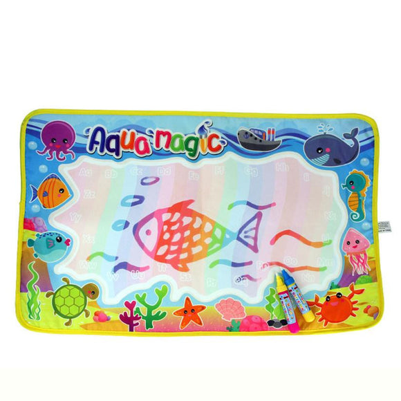 59*36cm baby toys Drawing toys Educational toy Doodle Toy Gift Water Drawing Painting Writing Mat Board Magic Pen