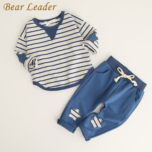 Bear Leader Boys Clothing Sets 2017 Fashion Style Kids Clothing Sets Long Sleeve Striped T-shirt+Pants 2Pc for Children Clothing