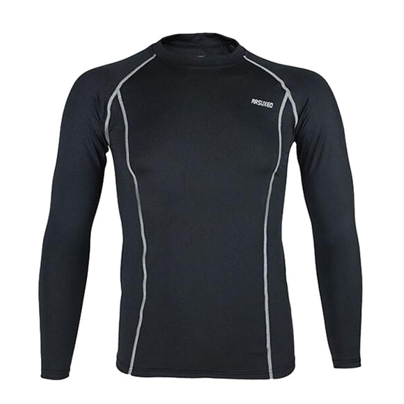 Spring Cycling Base Layer Men Compression Base Layers Tights Running Long Sleeves GYM Shirts Workout T Shirt Clothing 5 Colors