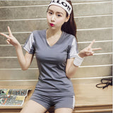 Women Sport Yoga Set for Running Gym Sportswear Suit for Female Elastic Waist Yoga Suits Fitness Workout Clothing