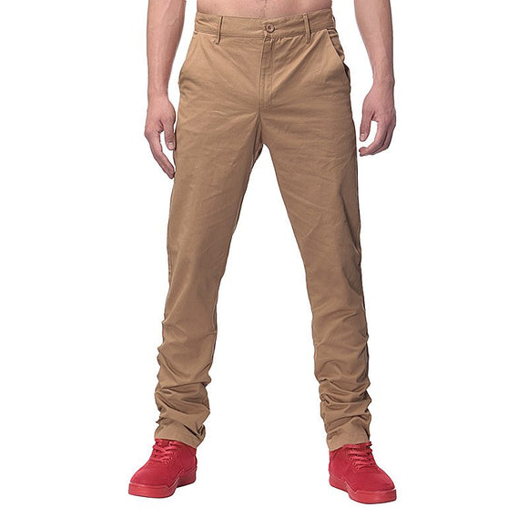 2017 Fashion Mens pants Straight Cargo Pants chinos Men Casual Slim Fit Autumn Spring Long Suit Pants business style Trousers