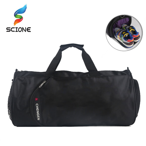 SCIONE Waterproof Sports Handbag Women Men Outdoor Shoulder Gym Bag Luggage Sack Female Shoulder Yoga Pack Shoes Bag