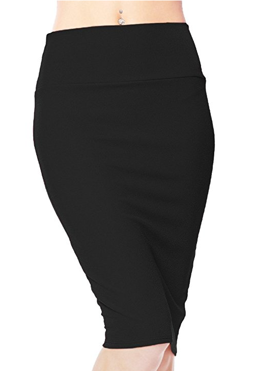 Women's High Waist Stretch Bodycon Pencil Skirt
