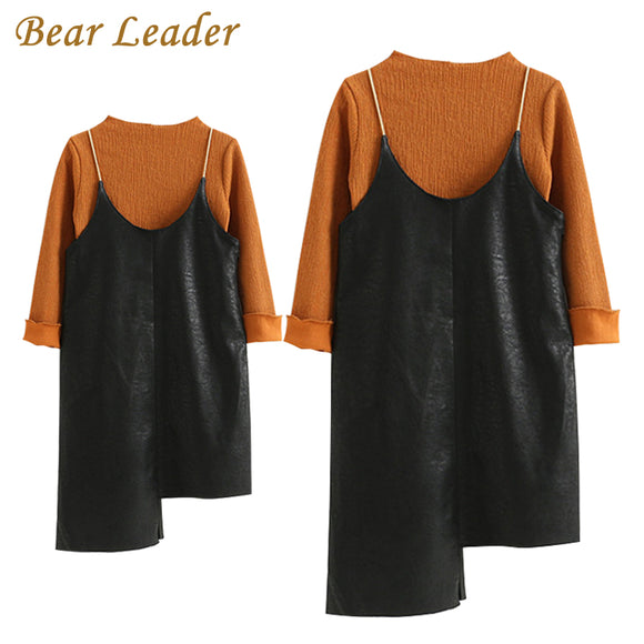 New Autumn Style Family Matching Dress sets Mother And Daughter Long Sleeve T-Shirt +Fur Dress 2Pcs Sets