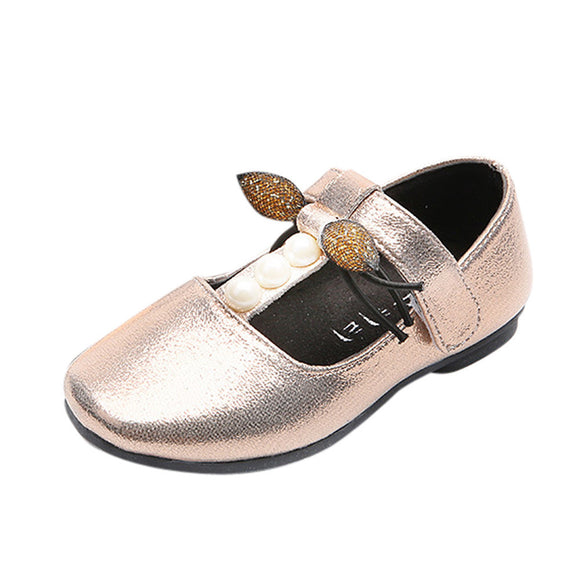 Children's Casual shoes Autumn Kids Children Girls Pearl Bow Casual Fashion Bowknot Flat Shoes girls drop shipping
