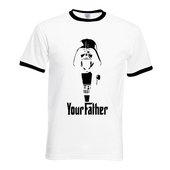 fashion  short sleeve T Shirts men high quality Your father contrast collar tee shirt homme fitness camisetas 2017 summer
