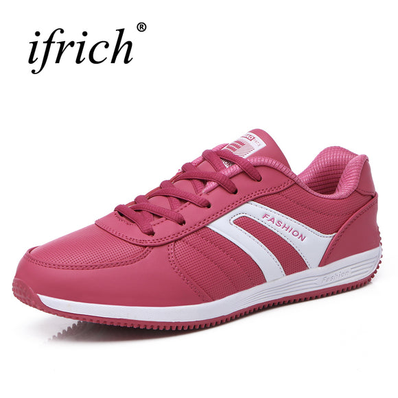 Spring/Autumn Women Runing Sneakers 2016 Sport Shoes Ladies Jogging Walking Sneakers Red/Gray Gym Training Sneakers