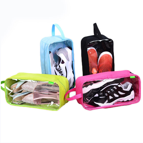 DINIWELL Portable Polyester Travel Outdoor Football Boot Sports Gym Shoe Bag Carry Storage Case Box Organizer Container