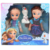 Disney 15cm Frozen Princess Elsa Anna Doll Ice and Snow Dolls Model Toys for Girl Christmas Gift Box
