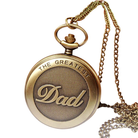 Vintage Chain Retro The Greatest Pocket Watch Necklace For Grandpa Dad Gifts
