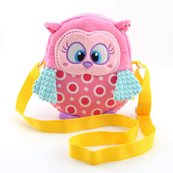 Cute Children's Plush Cartoon Owl Bag Kids Backpack Preschool Girls Boys Zoo Bags Toy BM88