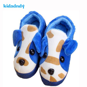 kidadndy Fashion Shoes Slip Warm Cotton Slippers Cartoon Dog Man House Woman Selling Children's Plush Slippers TCCS6031