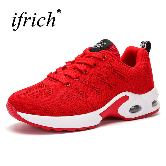 2017 New Arrival Running Shoes for Women Air Cushion Gym Shoes Female Mesh Breathable lady Popular Sneakers