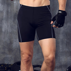 2017 New Men Shorts Clothing Male Skinny Short Trousers Bodybuilding High Elastic Fitness Crossfit Suit