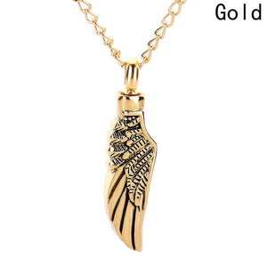 Hot Angel wings Memorial Jewelry  can open the pet urn pendant necklace