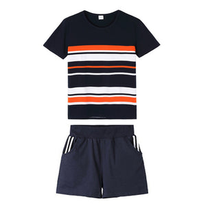 V-TREE Summer Family Matching Outfits Striped T-Shirt + Short For Father&kids Costumes Mom Daughter Dresses Family Look Sets