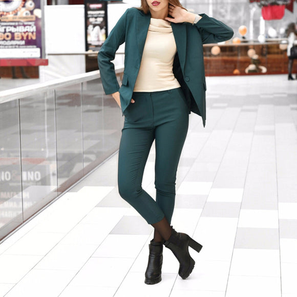 Blazer and pencil pant suit set