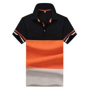 HEE GRAND Men's Patchwork 2018 Fashion Top Selling Men's Polo Breathable M-4XL Contract Color Male Short-sleeve Polo MTP468
