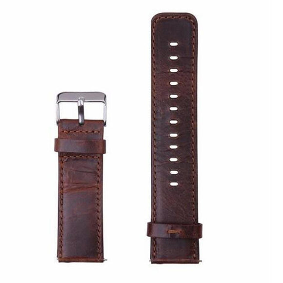 2017 New Luxury Leather Watch Band Wrist Strap+ Metal Frame For Fitbit Blaze Smart Watch 17Aug14 Dropshipping
