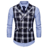 Men's Plaid Business Suit Vest