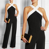 Celmia 2018 Summer Elegant Womens Rompers Off Shoulder Jumpsuit Sexy Stripe Backless Sleeveless Casual Long Playsuits Plus Size