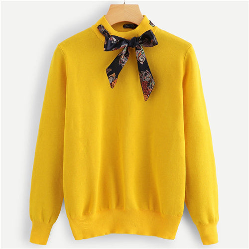 Neck Tie Sweater