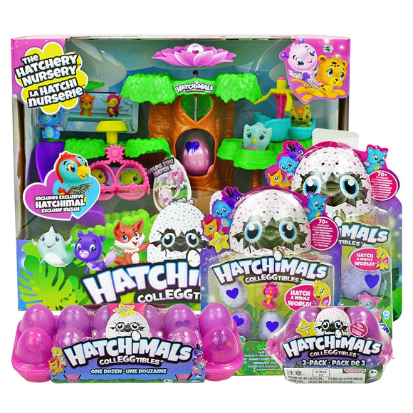 Hatchimals Eggs Cute Pets Mini Toys Bird's Nest Nursery Playset with Colleggtibles Birthday for Kids Children Gift