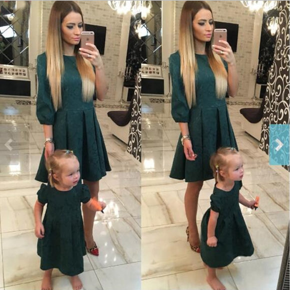 Formal Emerald Green Mommy&Me Dress