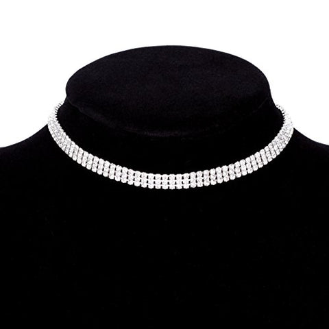 Paxuan Rhinestone Crystal Necklace Adjustable