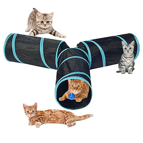 Tunnel Collapsible Crinkle Indoor Kittens