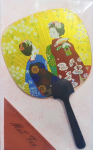 Japanese Beautiful Ladies Small Flat Fan with Envelope