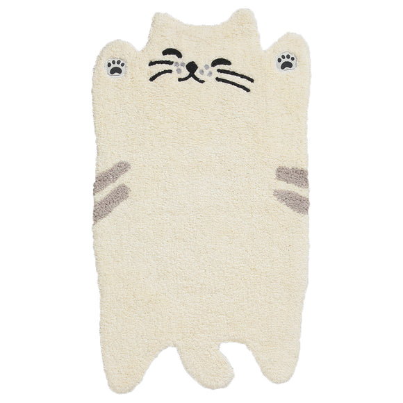 GUDAGUDA Cat Face Floor Mat (Ivory)